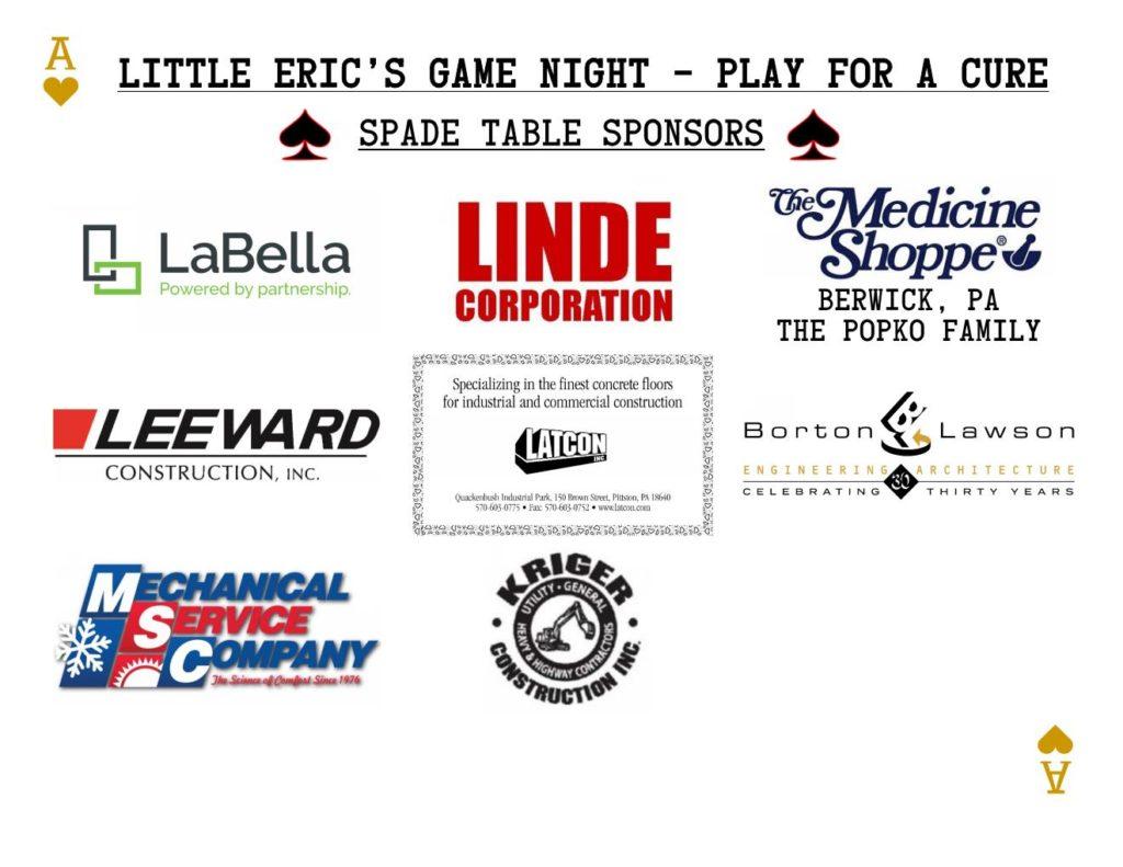 500 Spade Sponsor Board 2018