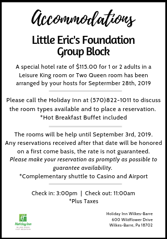 Little Eric's Foundation Accommodation Cards
